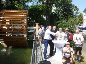 Wasserrad am Schwallech Unterstützung Förderung Spende Gemeinschaftsstiftung Mein Augsburg Projekte Augsburger Altstadt Stiftung Bürger Freunde Fuggerstadt