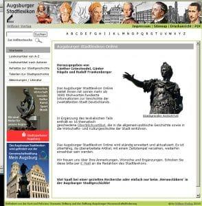 Augsburger Stadtlexikon 2009 Wißner Verlag Gemeinschaftsstiftung Mein Augsburg Rathaus Augsburger Stiftung für Bürger und Freunde der Fuggerstadt