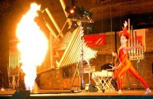 Flammende Klänge Freilichtbühne Michel Moglia Feuerorgel Probebühne Gemeinschaftsstiftung Mein Augsburg Rathaus Augsburger Stiftung für Bürger und Freunde der Fuggerstadt