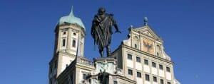 Rathausplatz Augsburg Mein Augsburg Stiftung Augustus Brunnen