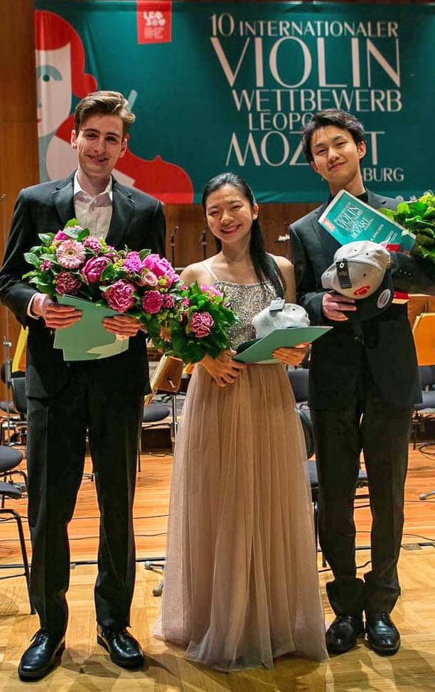Leopold Mozart 10 Internationaler Violin Wettbewerb Preisträger Joshua Brown Karisa Chiu Kaoru Oe Mozartpreis Publikumspreis Mein Augsburg Foto Christian Menkel
